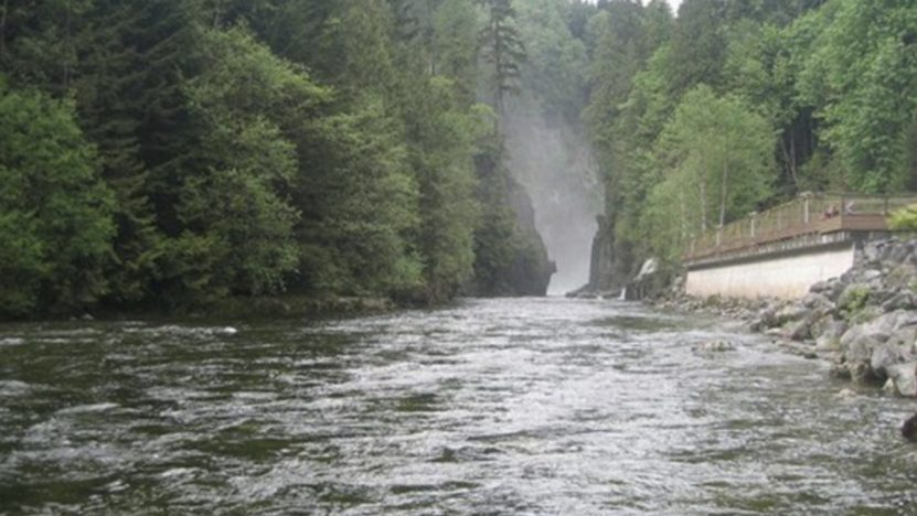 A fast flowing river
